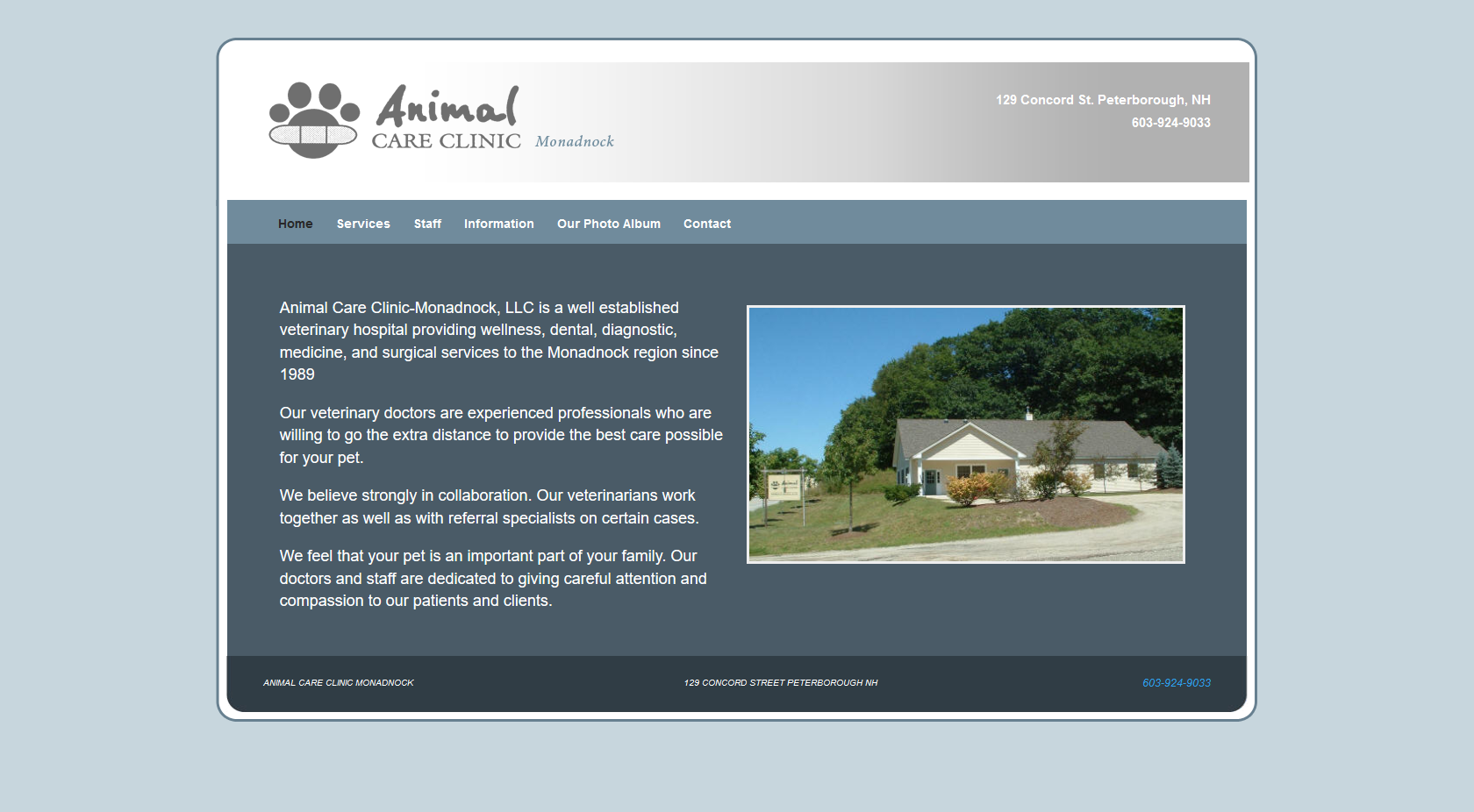 Animal Care Clinic - Monadnock screenshot