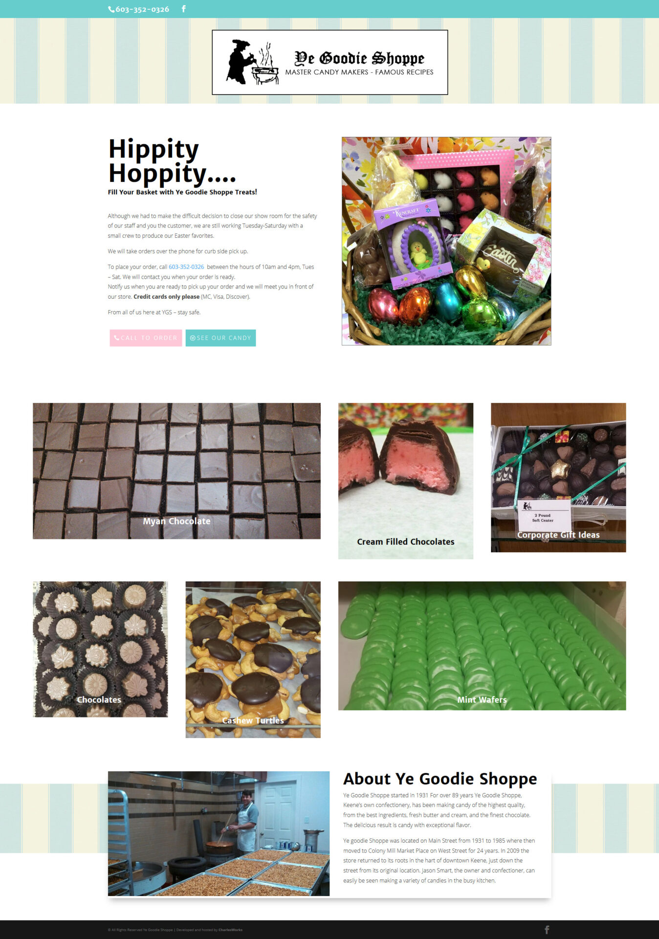 Ye Goodies Shoppe Master Candy Makers - Famous Recipes