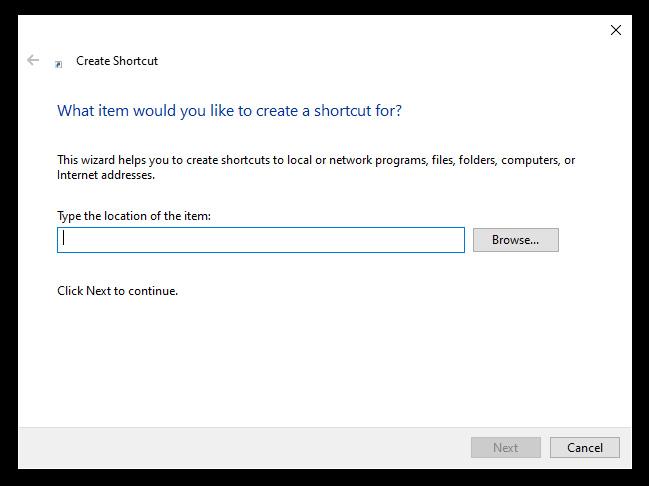 Step 3 - Create the Shortcut