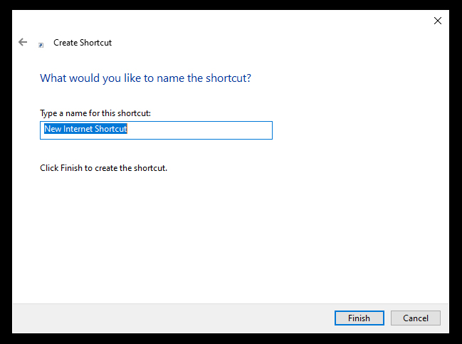 Step 4 - Name your new Shortcut