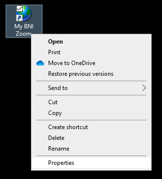 Step 6 - Set up new Shortcut's properties