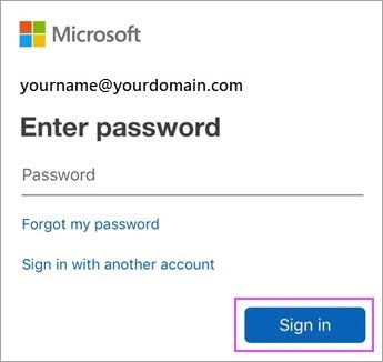 Enter Email Account Password